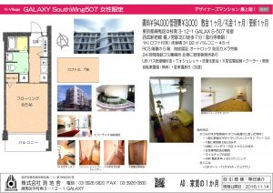 GALAXY S507号室チラシ